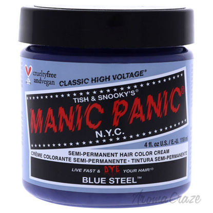 Picture of Classic High Voltage Hair Color Blue Steel by Manic Panic for Unisex 4 oz Hair Color