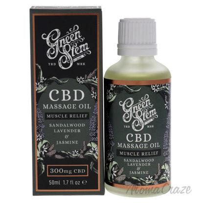 Picture of CBD Massage Oil 300mg Sandalwood Lavander and Jasmine by Green Stem for Unisex 1.7 oz Oil
