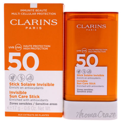 Picture of Invisible Sun Care Stick SPF 50 by Clarins for Unisex 0.6 oz Sunscreen