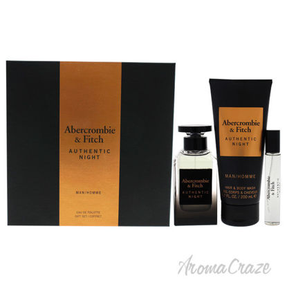 Picture of Authentic Night by Abercrombie and Fitch for Men 3 Pc Gift Set