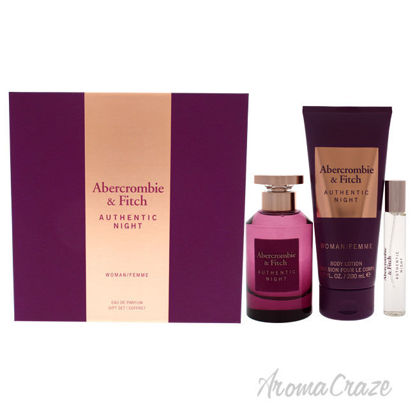 Picture of Authentic Night by Abercrombie and Fitch for Women 3 Pc Gift Set