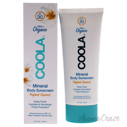 Picture of Mineral Body Organic Sunscreen Lotion SPF 30 Tropical Coconut by Coola for Unisex 5 oz Sunscreen