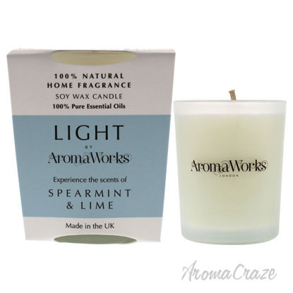Picture of Light Candle Small Spearmint and Lime by Aromaworks for Unisex 2.65 oz Candle