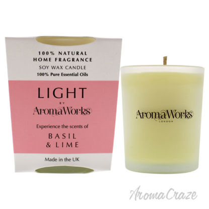 Picture of Light Candle Small Basil and Lime by Aromaworks for Unisex 2.65 oz Candle