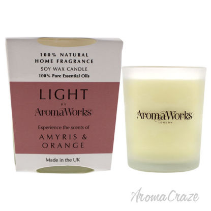 Picture of Light Candle Small Amyris and Orange by Aromaworks for Unisex 2.65 oz Candle