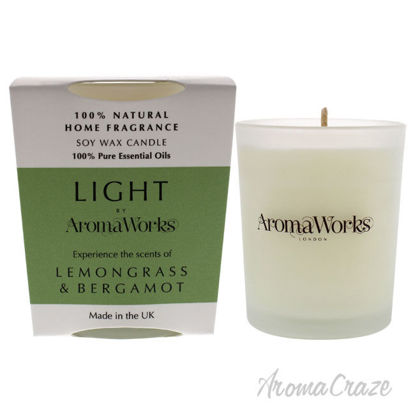 Picture of Light Candle Small Lemongrass and Bergamot by Aromaworks for Unisex 2.65 oz Candle