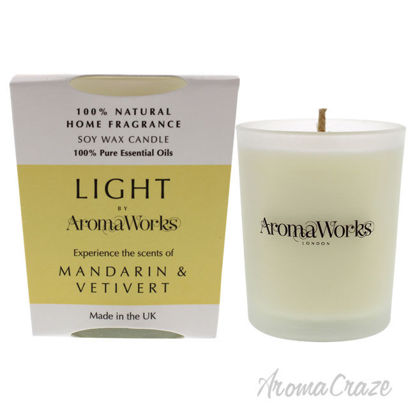 Picture of Light Candle Small Mandarin and Vetivert by Aromaworks for Unisex 2.65 oz Candle