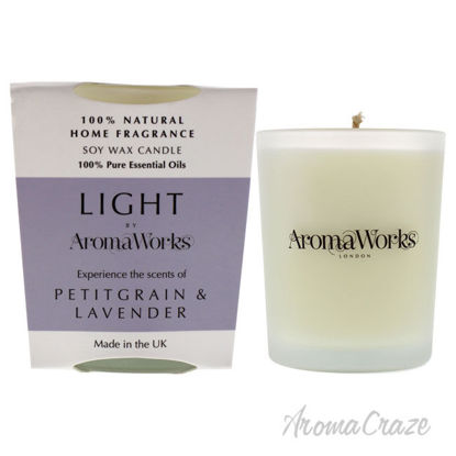 Picture of Light Candle Small Petitgrain and Lavender by Aromaworks for Unisex 2.65 oz Candle