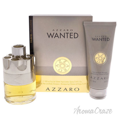 Picture of Azzaro Wanted by Azzaro for Men 2 Pc Gift Set 3.4oz EDT Spray, 3.4oz Hair and Body Shampoo