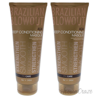 Picture of Acai Deep Conditioning Masque by Brazilian Blowout for Unisex 8 oz Masque Pack of 2