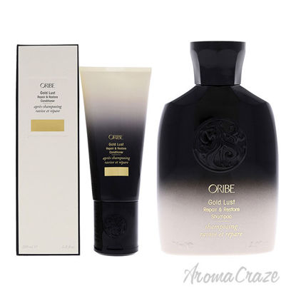 Picture of Gold Lust Repair and Restore Shampoo and Conditioner Kit by Oribe for Unisex 2 Pc Kit 2.5oz Shampoo, 6.8oz Conditioner