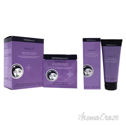 Picture of Kakadu C Brightening Daily and Intensive Vitamin C Peel Pads Kit by DERMAdoctor for Women 2 Pc Kit