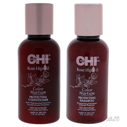 Picture of Rose Hip Oil Color Nurture Protecting Shampoo and Condioner Kit by CHI for Unisex 2 Pc Kit