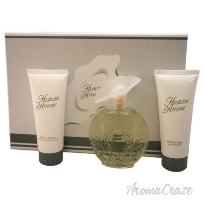 Picture of Histoire DAmour by Aubusson for Women 3 Pc Gift Set 3.4oz EDT Spray, 3.4oz Body Lotion, 3.4oz Shower Gel
