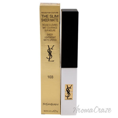 Picture of Rouge Pur Couture The Slim Sheer Matte Lipstick 103 Orange Provocant by Yves Saint Laurent for Women 0.07 oz Lipstick