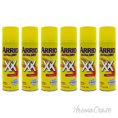Picture of Extra Dry Regular Deodorant Spray by Arrid for Unisex - 6 oz Deodorant Spray - Pack of 6