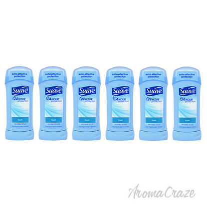 Picture of 24 Hour Protection Invisible Solid Anti-Perspirant Deodorant Stick - Fresh by Suave for Unisex - 2.6 oz Deodorant Stick - Pack of 6