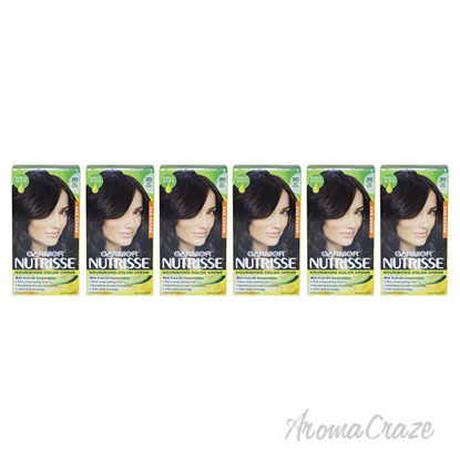 Picture of Nutrisse Nourishing Color Creme - 20 Soft Black by Garnier for Unisex - 1 Application Hair Color - Pack of 6