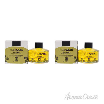 Picture of The Scent Reed Difuser Set by Helis Gold for Unisex - 2 Pc 3.3oz Diffuser, 7Pc Fiber Stick - Pack of 2