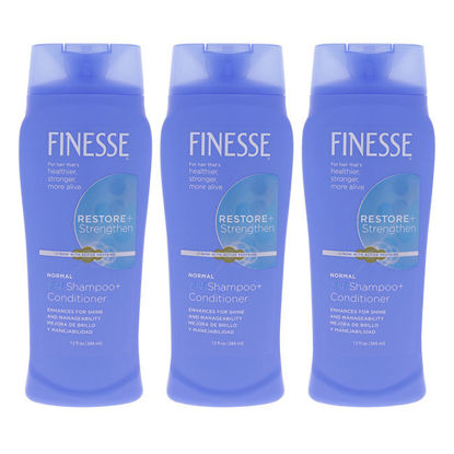 Picture of Self Adjusting 2-In-1 Texture Enhancing Shampoo and Conditioner by Finesse for Unisex - 13 oz Conditioner - Pack of 3
