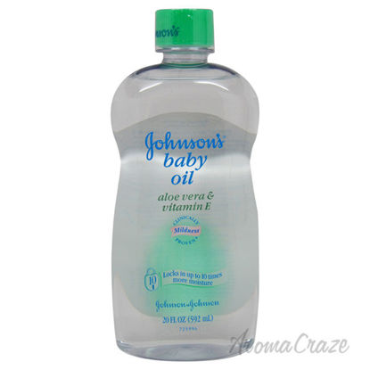 Picture of Johnsons Baby Oil with Aloe Vera & Vitamin E by Johnson & Johnson for Kids 20 oz Oil