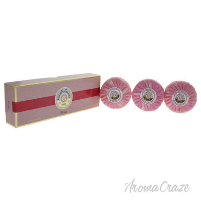 Picture of Rose Perfumed Soaps by Roger & Gallet for Unisex 3 x 3.5 oz Bar Soap