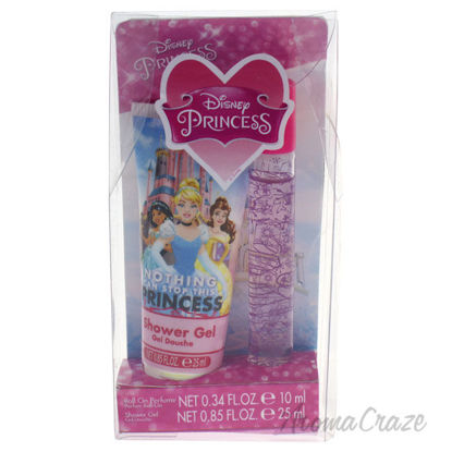 Picture of Disney Princess by Disney for Kids 2 Pc Gift Set 0.34oz Roll On Perfume, 0.85oz Shower Gel