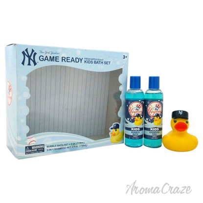 Picture of New York Yankees Game Ready Kids Bath Set by New York for Kids 3 Pc Gift Set