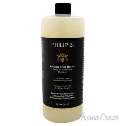 Picture of African Shea Butter Gentle Conditioning Shampoo by Philip B for Unisex 32 oz Shampoo