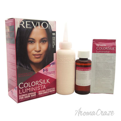 Picture of colorsilk Luminista 105 Bright Black by Revlon for Women 1 Application Hair Color