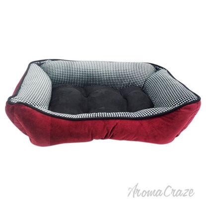 Picture of Houndstooth Cuddler Pet Bed by Pet Maison for Unisex 27 x 21 x 10 Inch Pet Bed