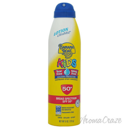 Picture of UltraMist Kids Tear Free Sting Free Continuous Lotion Spray Sunscreen SPF 50 by Banana Boat for Kids 6 oz Lotion Spray