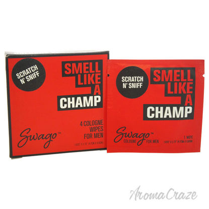 Picture of Smell Like a Champ by Swago for Men 4 Pc Pack Cologne Wipes