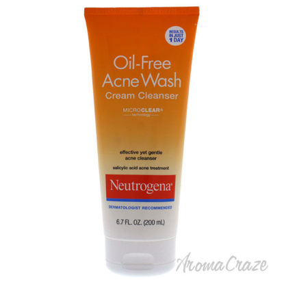 Picture of Oil Free Acne Wash Cream Cleanser by Neutrogena for Unisex 6.7 oz Cleanser