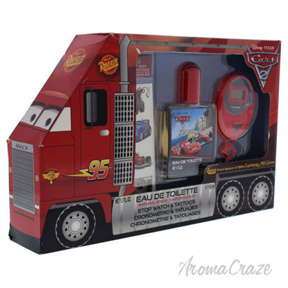 Picture of Pixar Cars by Disney for Kids 3 Pc Gift Set 1.7oz EDT Spray, Stopwatch, Body Tattoos