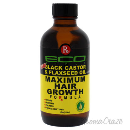 Picture of Eco Style Maximum Hair Growth Oil Black Castor And Flaxseed by Ecoco for Unisex 4 oz Oil