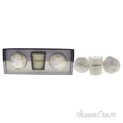 Picture of Light Candle Set Petitgrain and Lavender by Aromaworks for Unisex 3 Pc 2.65 oz Candle, 2 Pc Mini AromaBomb