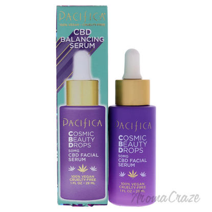 Picture of Cosmic Beauty Drops CBD Balancing Serum by Pacifica for Unisex 1 oz Serum