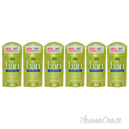 Picture of Powder Fresh Invisible Solid Antiperspirant Deodorant by Ban for Unisex 2.6 oz Deodorant Roll On Pack of 6
