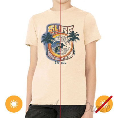 Picture of Men Crew Tee Surf Beige by DelSol for Men 1 Pc T-Shirt (YM)