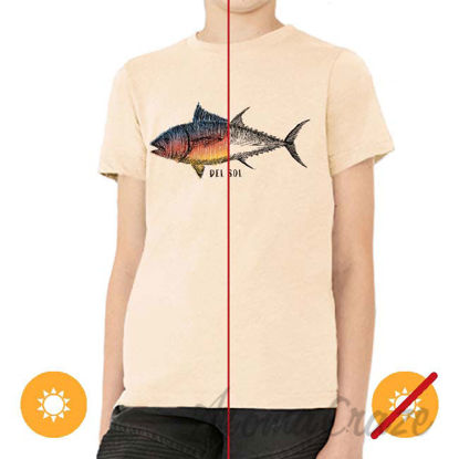 Picture of Men Crew Tee Big Fish Beige by DelSol for Men 1 Pc T-Shirt (YM)