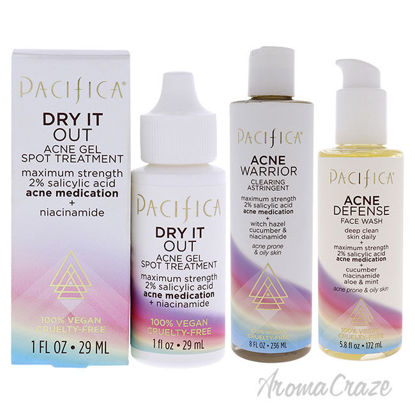 Picture of Pacific Acne Kit by Pacifica for Unisex 3 Pc Kit