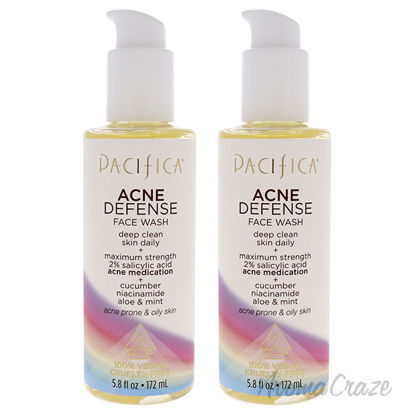 Picture of Acne Defense Face Wash by Pacifica for Unisex 5.8 oz Cleanser Pack of 2