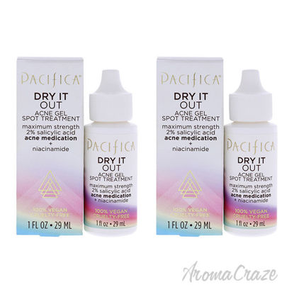 Picture of Dry It Out Acne Gel Spot Treatment by Pacifica for Unisex 1 oz Treatment Pack of 2