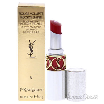 Picture of Rouge Volupte RockN Shine Lipstick 08 RockN Red by Yves Saint Laurent for Women 0.14 oz Lipstick