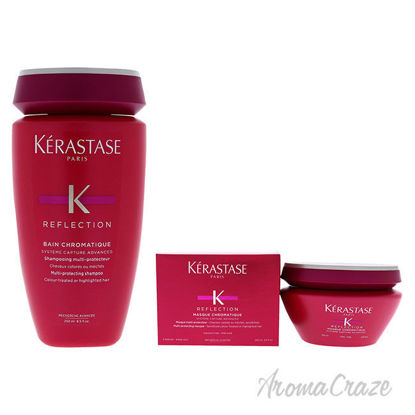 Picture of Reflection Bain and Masque Chromatique Multi Protecting Shampoo Fine Hair Kit by Kerastase 2 Pc Kit