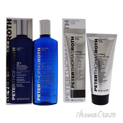 Picture of Glycolic 3 Percent Solutions Cleanser and Pumpkin Enzyme Mask Firmx Peeling Gel Kit by Peter Thomas Roth 3 Pc Kit
