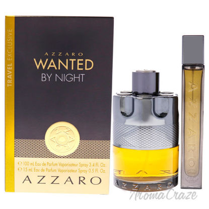 Picture of Wanted By Night by Azzaro for Men-2 Pc Gift Set 3.4oz EDP Spray, 0.5oz EDP Spray