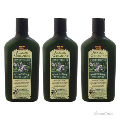Picture of Organics Volumizing Rosemary Conditioner by Avalon Organics for Unisex-11 oz Conditioner-Pack of 3