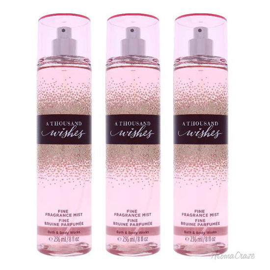 Picture of A Thousand Wishes by Bath and Body Works for Women 8 oz Fine Fragrance Mist Pack of 3